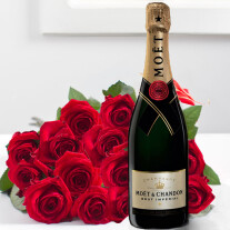 15 roses added to Champagne