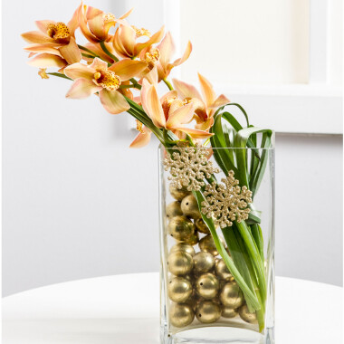 Stylish Christmas Decoration with Orchid