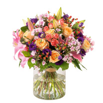 Nice round multicolored bouquet