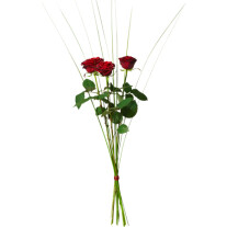 Bouquet with 3 red roses