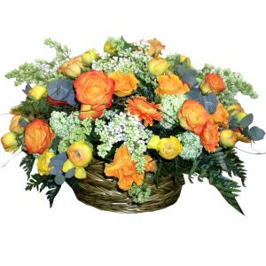 Basket Arrangement Autumn Etude